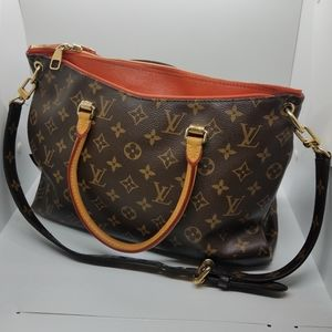 Authentic LOUIS VUITTON Monogram Pallas Tote